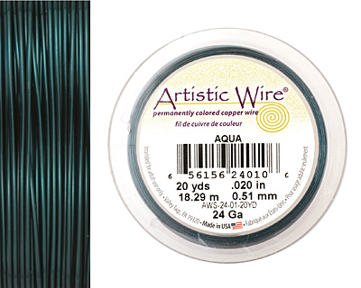 Artistic Wire Aqua 24 gauge, 20 yards