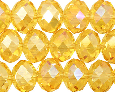 Sunshine AB Crystal Faceted Rondelle 14mm