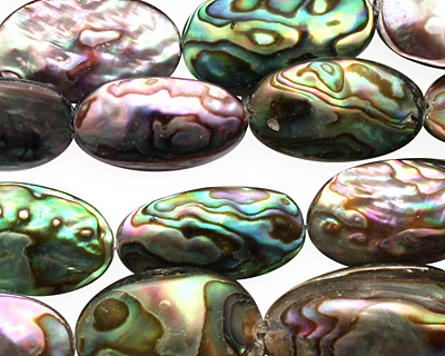 Abalone Freeform Puff Oval 15-21x9-14mm