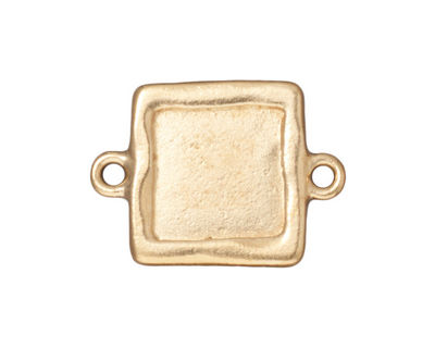 TierraCast Gold (plated) Simple Square Link Frame 26x19mm