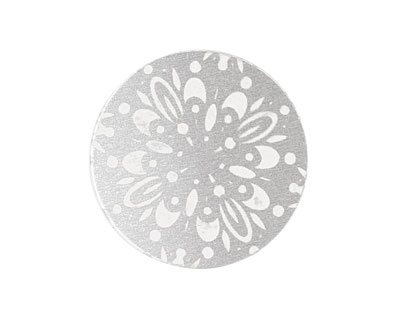 Lillypilly Silver Kaleidoscope Anodized Aluminum Disc 25mm, 22 gauge