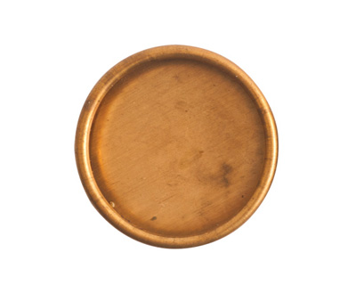 Nunn Design Brass Small Deep Circle Bezel (no loop) 26mm