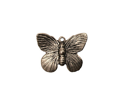 Stampt Antique Pewter (plated) Butterfly Charm 19x15mm