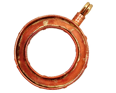 Patricia Healey Copper Simple Loop Bezel Pendant 38x50mm