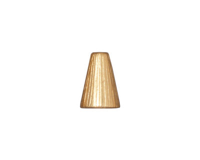 TierraCast Gold (plated) Tall Radiant Cone 12x9mm