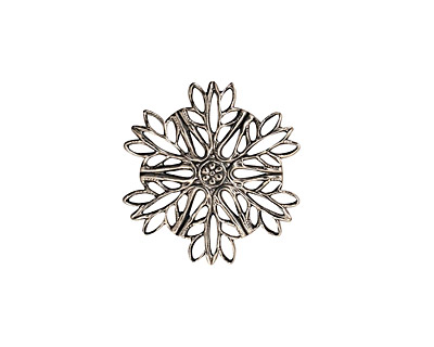 Stampt Antique Pewter (plated) Snowflake Filigree 19mm