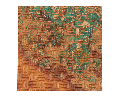 Lillypilly Verde Thatch Embossed Patina Copper Sheet 3