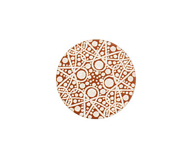 Lillypilly Bronze Geometrics Anodized Aluminum Disc 19mm, 24 gauge