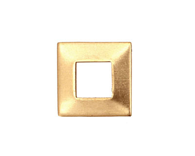 Brass Square Ring Blank 17mm