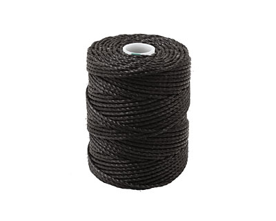 C-Lon Black Tex 400 (1mm) Bead Cord