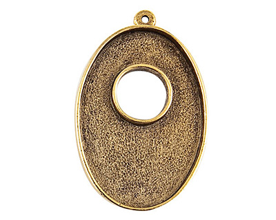 Nunn Design Antique Gold (plated) Grande Oval Bezel Toggle 43x28mm