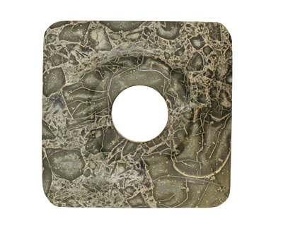 African Green Jasper Square Donut 40mm