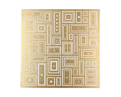 Lillypilly Gold Deco Rectangle Anodized Aluminum Sheet 3