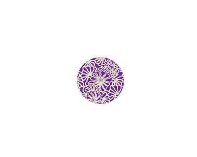 Lillypilly Purple Weathered Daisy Anodized Aluminum Disc 11mm, 24 gauge