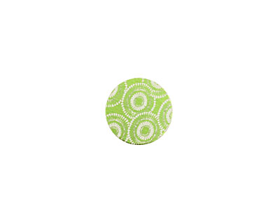 Lillypilly Lime Green Dandelion Anodized Aluminum Disc 11mm, 24 gauge