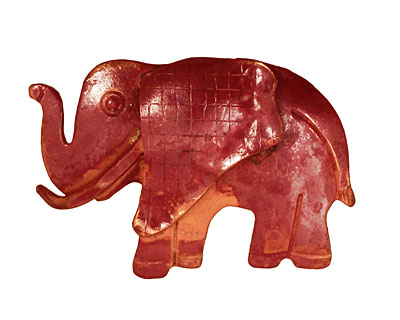 Patricia Healey Copper Elephant Pendant 40x27mm