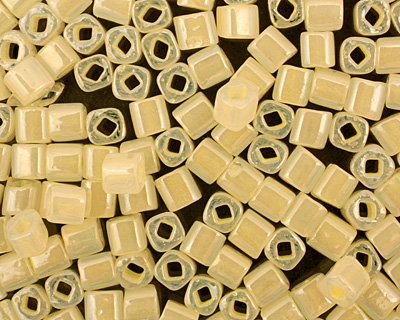 TOHO Ceylon Banana Cream Cube 4mm Seed Bead