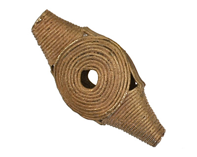 African Brass Horse Eye 39-48x19-21mm