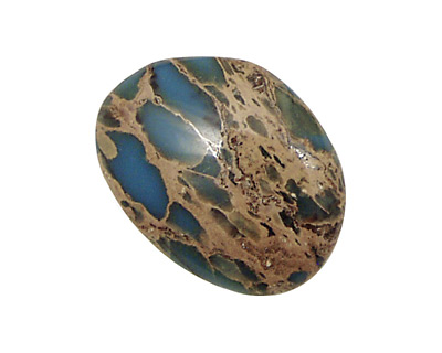 Blue Impression Jasper Freeform Cabochon 12-26x18-36mm