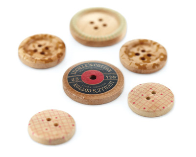 Lucille Wooden Buttons