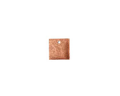 Nunn Design Antique Copper (plated) Flat Mini Square Tag 13mm