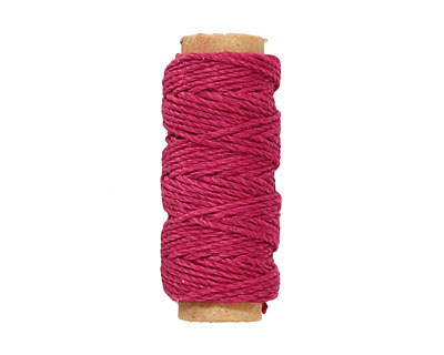 Dark Pink Hemp Twine 20 lb, 29 ft