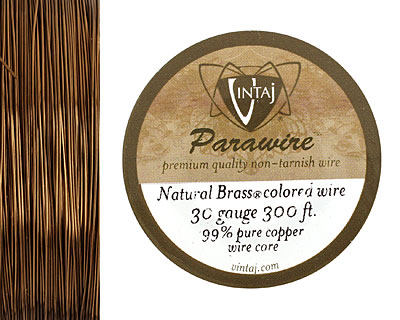 Vintaj Natural Brass Parawire 30 gauge, 300 feet