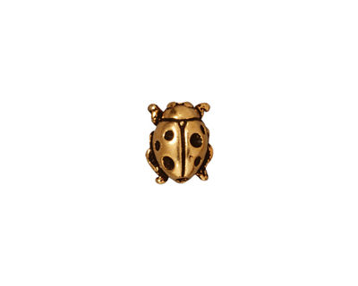TierraCast Antique Gold (plated) Lady Bug 10x8mm