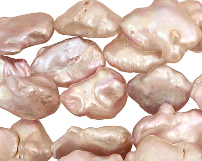 Natural Pink Keishi Nugget 24-25x15-18mm