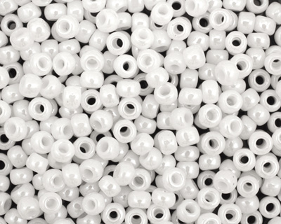 TOHO Opaque Lustered White Round 6/0 Seed Bead