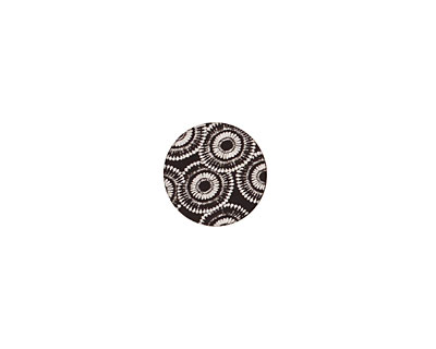 Lillypilly Black Dandelion Anodized Aluminum Disc 11mm, 22 gauge