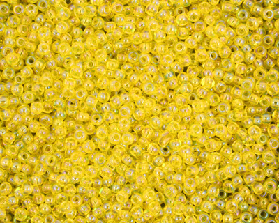 TOHO Transparent Rainbow Lemon Round 11/0 Seed Bead