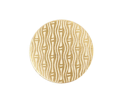 Lillypilly Gold Reeds Anodized Aluminum Disc 25mm, 22 gauge