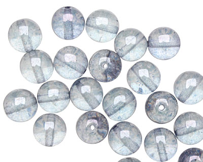Czech Glass Luster Transparent Blue Round 8mm