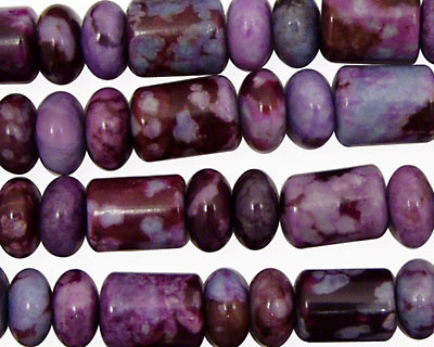 Sugilite Jasper Barrel Rondelle 8-10mm