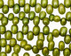 Olive Green Dancing Drops 6.5-8mm