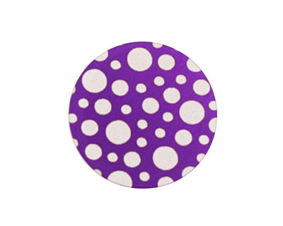 Lillypilly Purple Scattered Dots Anodized Aluminum Disc 25mm, 24 gauge