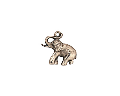 Stampt Antique Pewter (plated) Elephant Charm 14.5x13mm