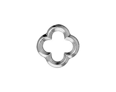 TierraCast Rhodium (plated) Medium Quatrefoil Link 16mm