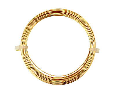 German Style Wire Gold (plated) Round 22 gauge, 10 meters