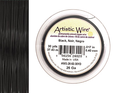 Artistic Wire Black 26 gauge, 30 yards