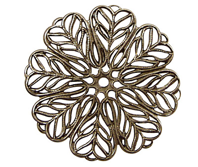 Stampt Antique Pewter (plated) Daisy Filigree 36mm