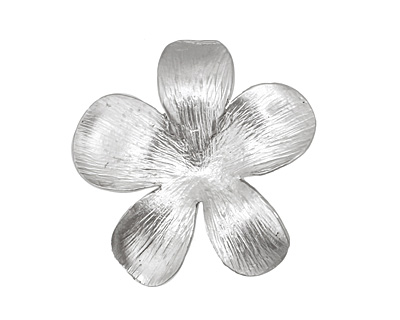 Ezel Findings Rhodium (plated) 5 Petal Flower Link 27mm