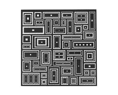 Lillypilly Black Deco Rectangle Anodized Aluminum Sheet 3