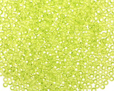 TOHO Transparent Lime Green Round 11/0 Seed Bead