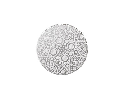 Lillypilly Silver Geometrics Anodized Aluminum Disc 19mm, 22 gauge