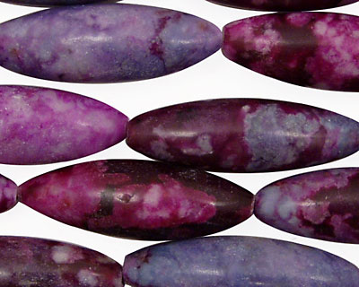 Sugilite Jasper Rice 30-33x8mm