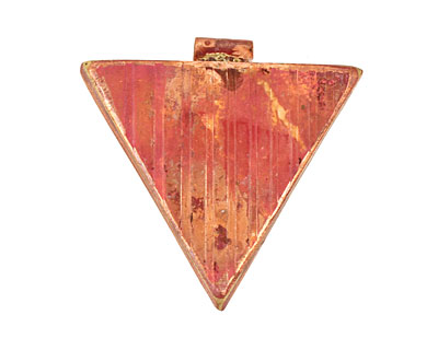 Patricia Healey Copper Ridged Triangle Pendant 38mm