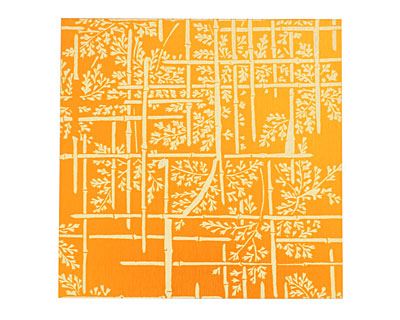 Lillypilly Orange Bamboo Anodized Aluminum Sheet 3
