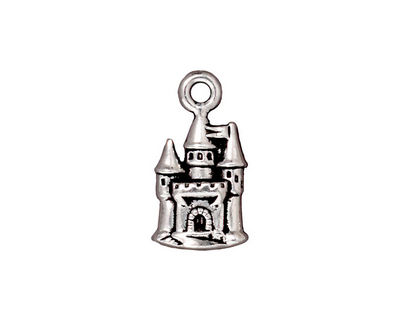 TierraCast Antique Silver (plated) Castle Charm 11x21mm